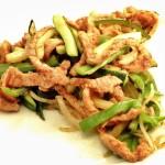 Cerdo picante Coreano con Calabacín y Pimiento o… ¡Dwaejigogibokkeum!