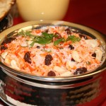 Pilao (arroz) salteado con Anacardos y Pasas (Hindú)