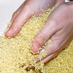 Cuscus (semola de trigo) para guarniciones, tabule, …