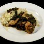 Curry de pollo con espinacas, Murg palak
